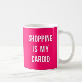 Shopping Is My Cardio on Hot Pink Coffee Mug