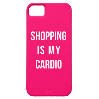 Shopping Is My Cardio on Hot Pink iPhone 5 Cases