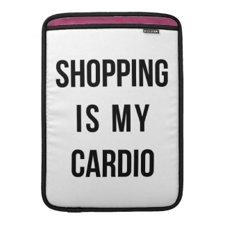 Shopping Is My Cardio on White MacBook Air Sleeve