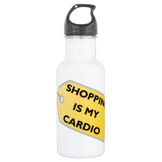 Shopping Is My Cardio Stainless Steel Water Bottle
