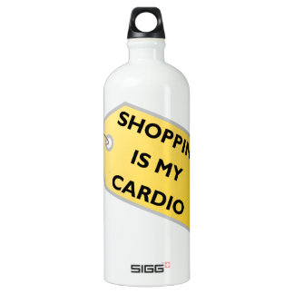 Shopping Is My Cardio Water Bottle