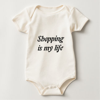 Shopping is my life baby bodysuit