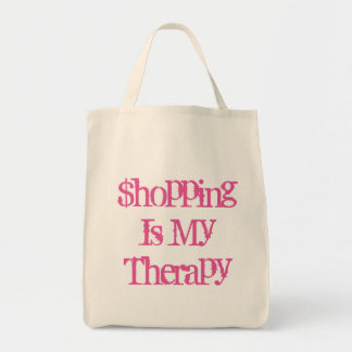 Shopping Is My Therapy Grocery Tote