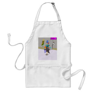 Shopping Lady Buying Things Adult Apron