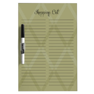 Shopping List Changeable Color Diamonds Dry Erase Board