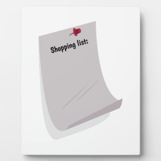 Shopping List Display Plaque