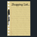 """Shopping List Dry-Erase Board<br><div class=""""desc"""">Funny customizable dry erase board says Shopping List... </div>"""