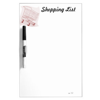 Shopping List Dry Erase Whiteboards