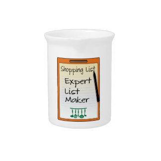 Shopping List expert list maker Pitcher