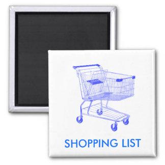 Shopping List Fridge magnet