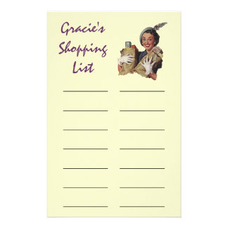 Shopping List Grocery List Personal Stationery