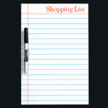 """Shopping List Grocery Whiteboard<br><div class=""""desc"""">This is ruled marking notebook style dry erase board for to-do-list or even list the grocery items regularly in our house. This board can be used for office daily purpose to note important things regularly on a ruled paper style dry erase board. You can check in my shop collection there...</div>"""