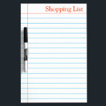 "Shopping List Grocery Whiteboard<br><div class=""desc"">This is ruled marking notebook style dry erase board for to-do-list or even list the grocery items regularly in our house. This board can be used for office daily purpose to note important things regularly on a ruled paper style dry erase board. You can check in my shop collection there...</div>"