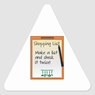 Shopping List make a list and check it twice Sticker