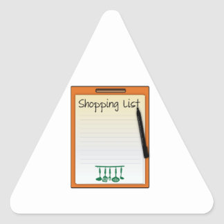 Shopping List Triangle Sticker