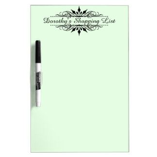 Shopping List with your Name on it Dry Erase Whiteboards