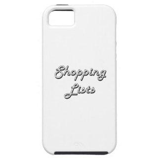 Shopping Lists Classic Retro Design iPhone 5 Cases