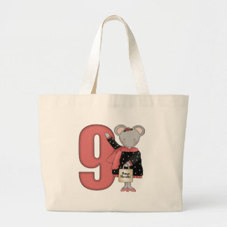 Shopping Mouse 9th Birthday Gifts Jumbo Tote Bag