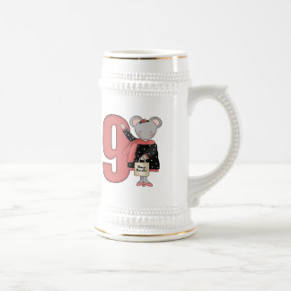 Shopping Mouse 9th Birthday Gifts Beer Stein