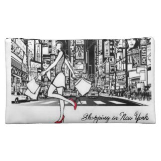 shopping new york girls baggette cosmetic bag