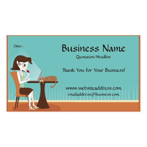 Shopping line Laptop Business Cards