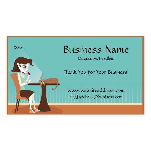 Shopping Online/Laptop Business Cards : Zazzle