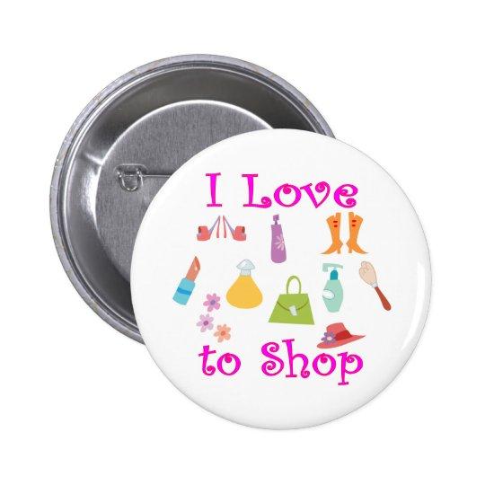 Shopping Pinback Button