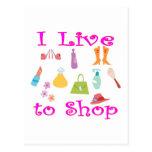 Shopping Postcard