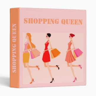 SHOPPING QUEEN COLLECTION 3 RING BINDER