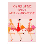 """SHOPPING QUEEN COLLECTION 5"""" X 7"""" INVITATION CARD"""