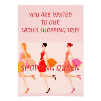 SHOPPING QUEEN COLLECTION 5X7 PAPER INVITATION CARD