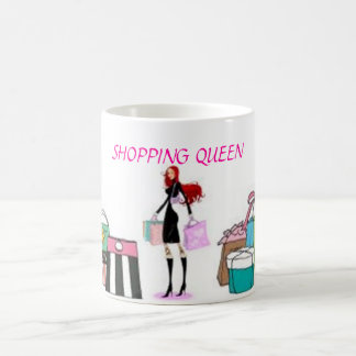 SHOPPING QUEEN COLLECTION CLASSIC WHITE COFFEE MUG