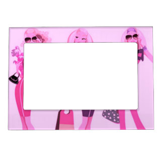 SHOPPING QUEEN COLLECTION PICTURE FRAME MAGNET