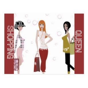 Shopping Queen Collection Postcards Zazzle