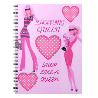 SHOPPING QUEEN COLLECTION SPIRAL NOTE BOOK