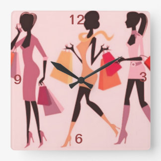 SHOPPING QUEEN COLLECTION SQUARE WALL CLOCKS