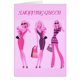 SHOPPING QUEEN COLLECTION STATIONERY NOTE CARD