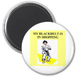 shopping queen humor 2 inch round magnet