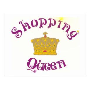 Shopping Queen Postcards Zazzle