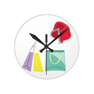 Shopping Round Clock