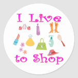 Shopping Round Stickers