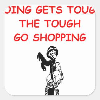 shopping square sticker