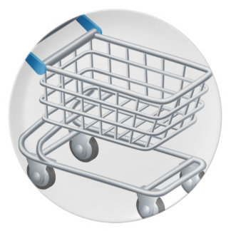 Shopping trolley icon plate