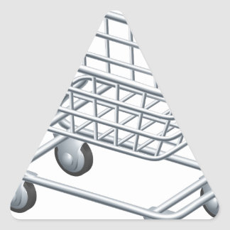 Shopping trolley icon triangle stickers