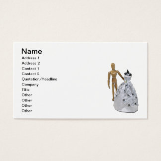 Shopping Wedding Dress Business Card