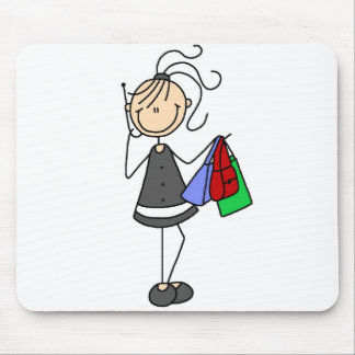 Shopping With Cellphone Mousepad