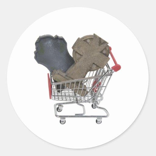ShoppingAfterLife090409 Pegatina Redonda