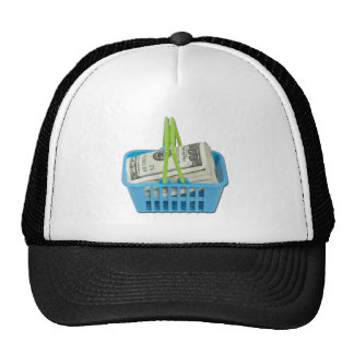 ShoppingBasketFullCash101311 Trucker Hat