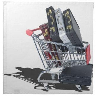 ShoppingCartofBriefcases061315 Napkin