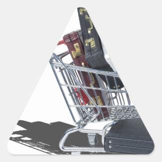 ShoppingCartofBriefcases061315 Triangle Sticker